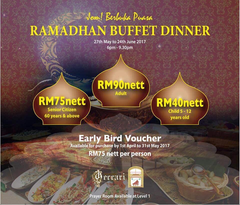 Senarai Harga Buffet Ramadhan Di Hotel Sekitar Kuching